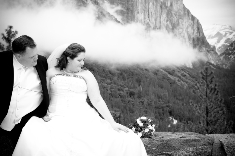 This is my all time favorite wedding picture from our wedding in Yosemite!