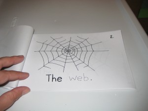 Page 2.  Students trace the word web.