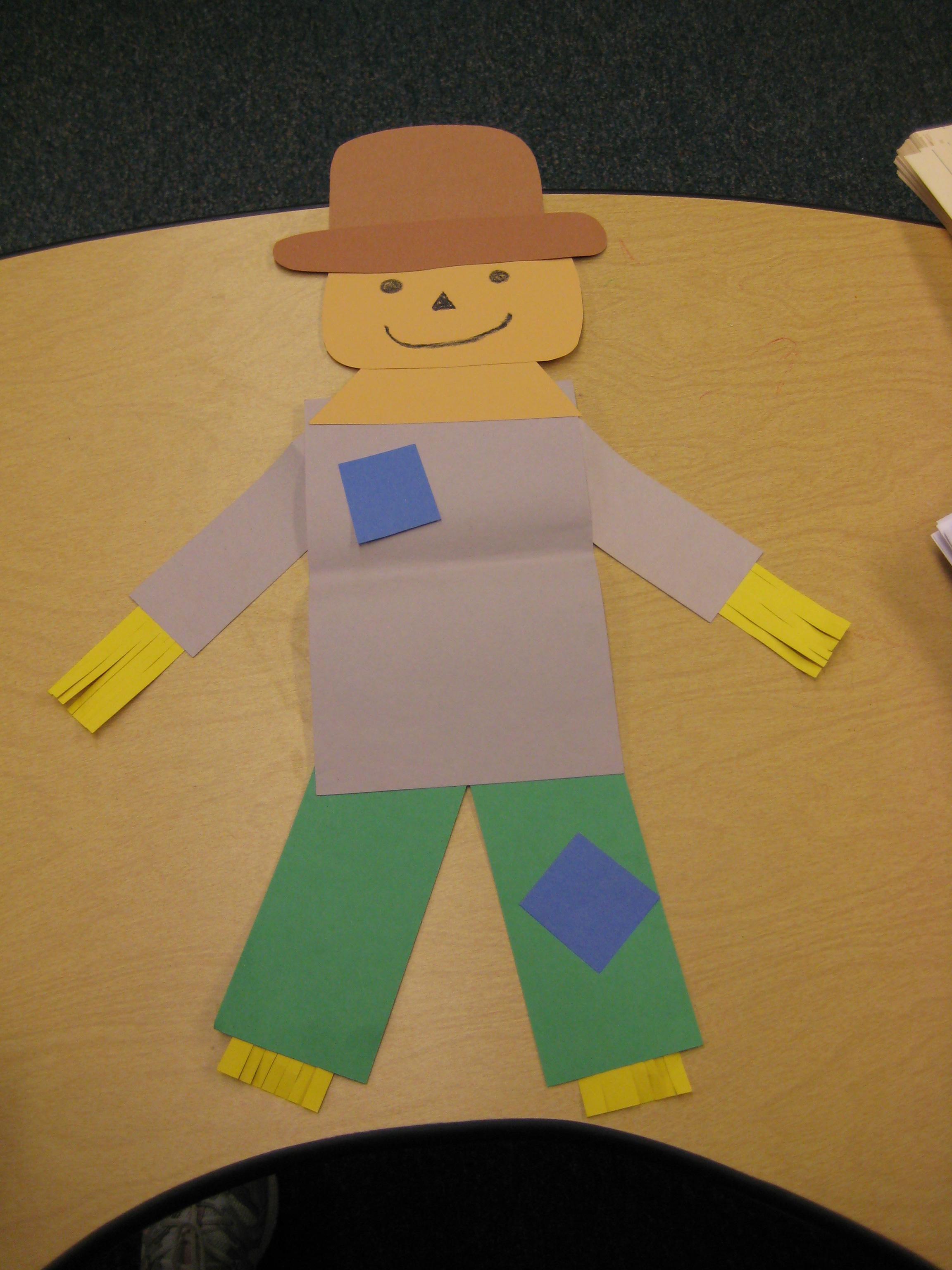 Preschool printables scarecrow Trials Ireland