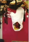 This was the author board for Jan Brett.  I made a giant mitten out of felt and placed all of my stuffed animals inside.  Many of the stuffed animals are characters from books, so my students that this was just hilarious.  I made this board in 2006 when I taught first grade.