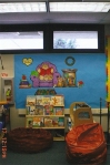This was the reading board and classroom library from my class last year