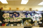 This is the winter bulletin board that I made when I taught first grade in 2006.