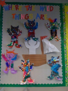 "This is the completed ""Wild Thing"" board."