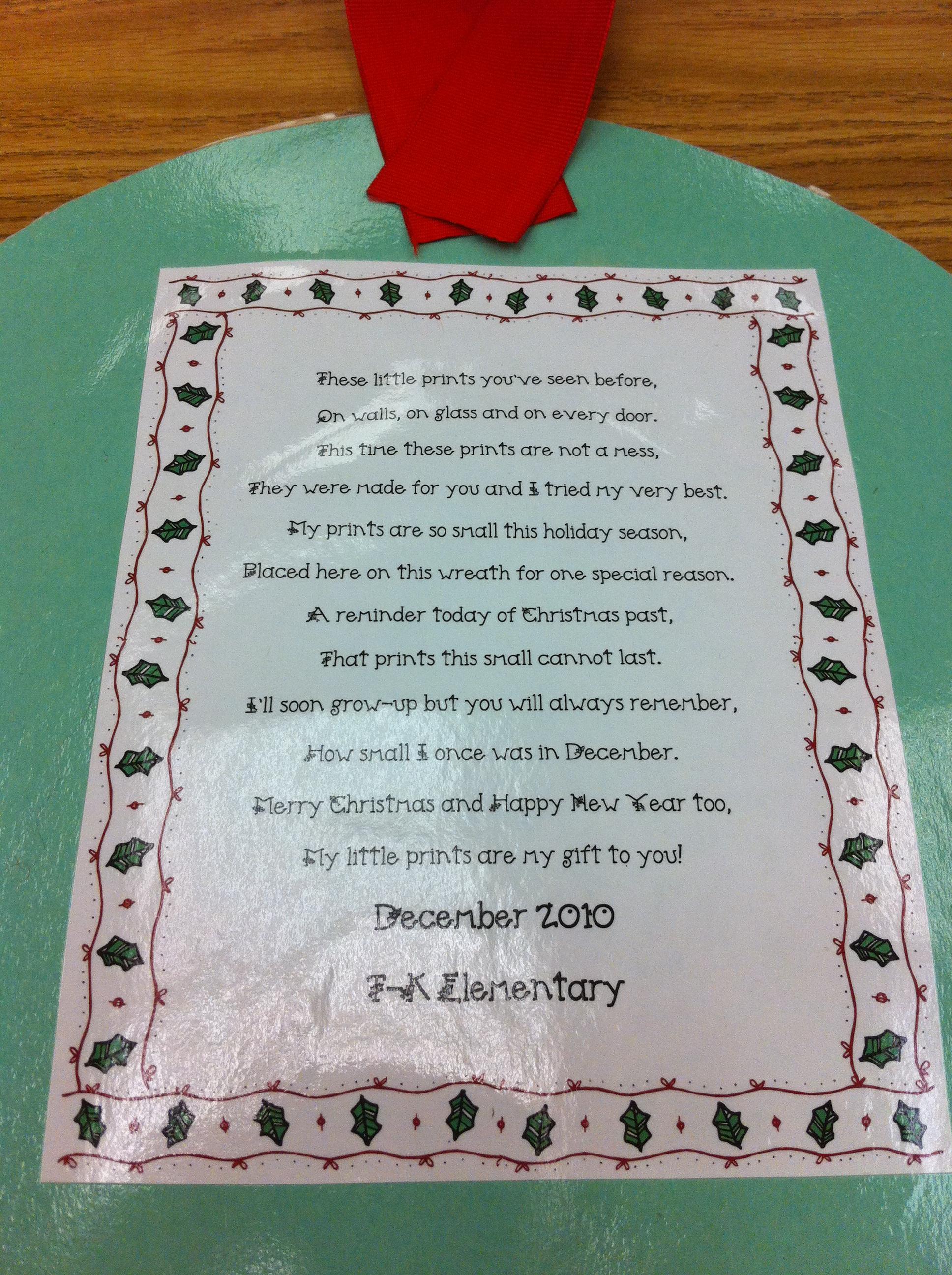 christmas tree handprint poem - photo #10