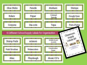 School Supply Organization Labels Download… – Mrs  Kilburn's