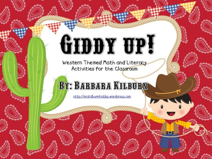 Giddy Up Math and Literacy Activiites