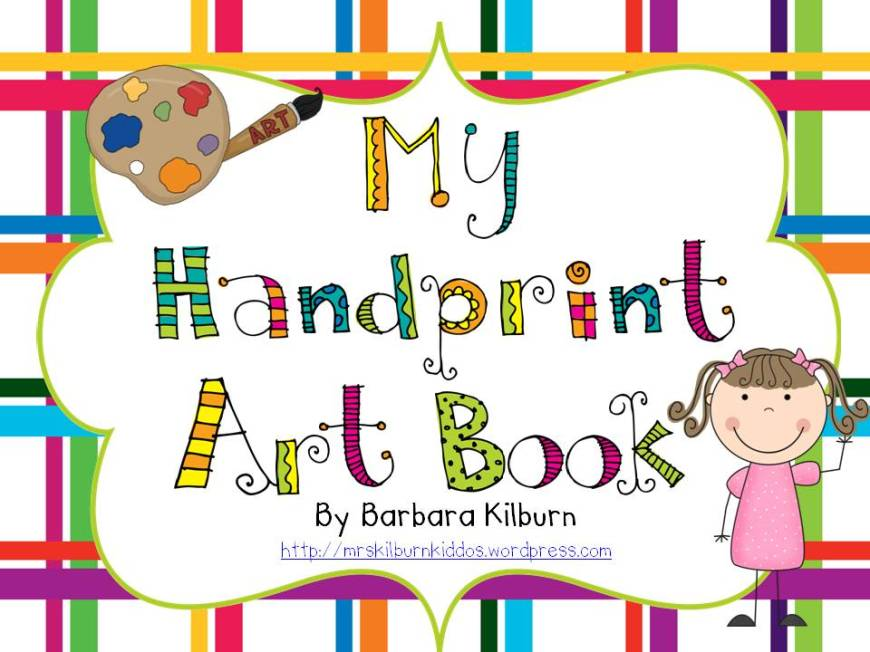 Hand Print Art Book–it's finished and posted!