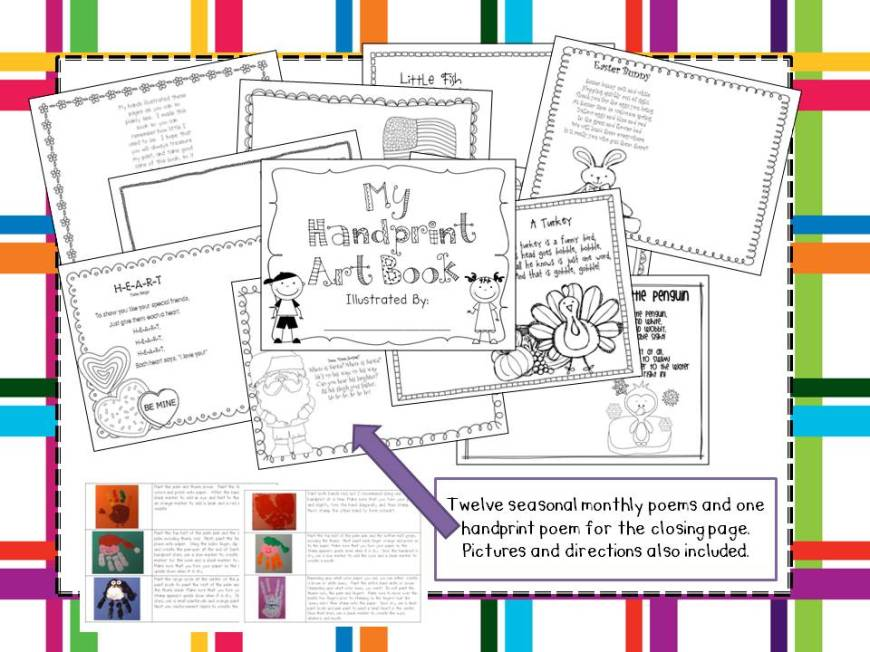 Art Calendar Book : Hand print art book it s finished and posted mrs