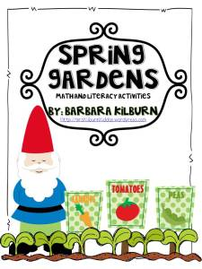 Spring gardens math and literacy