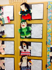 Culture dolls and culture reports.  They turned out SO cute!