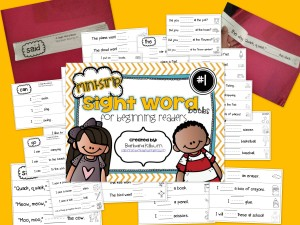sight word strip books