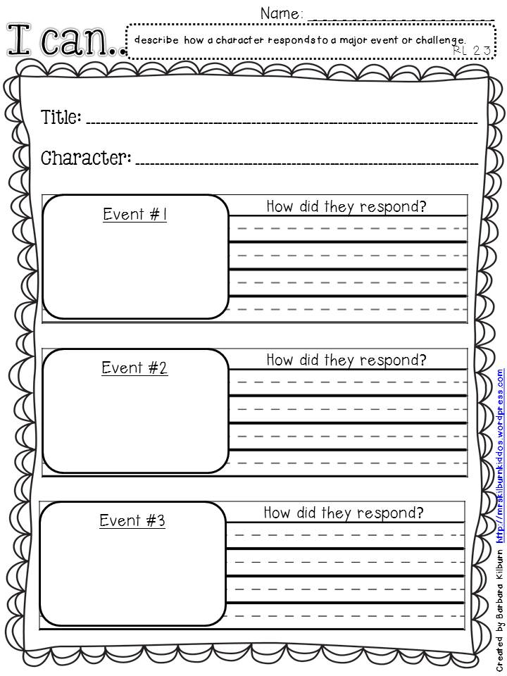 RL 2.3 graphic organizer