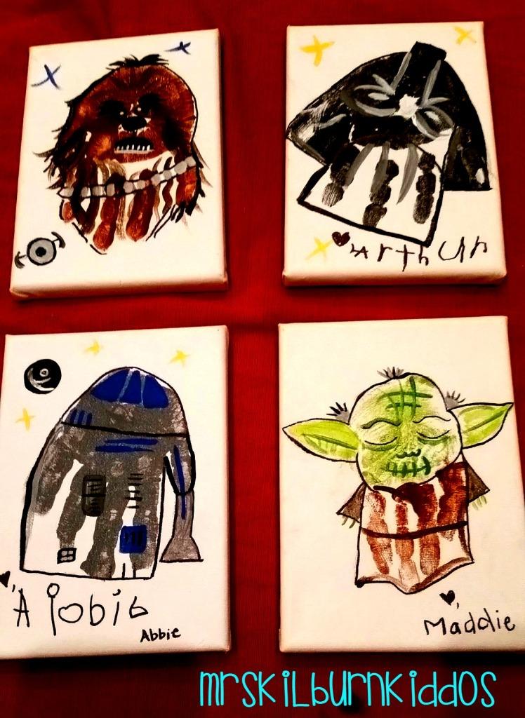 star wars hand prints