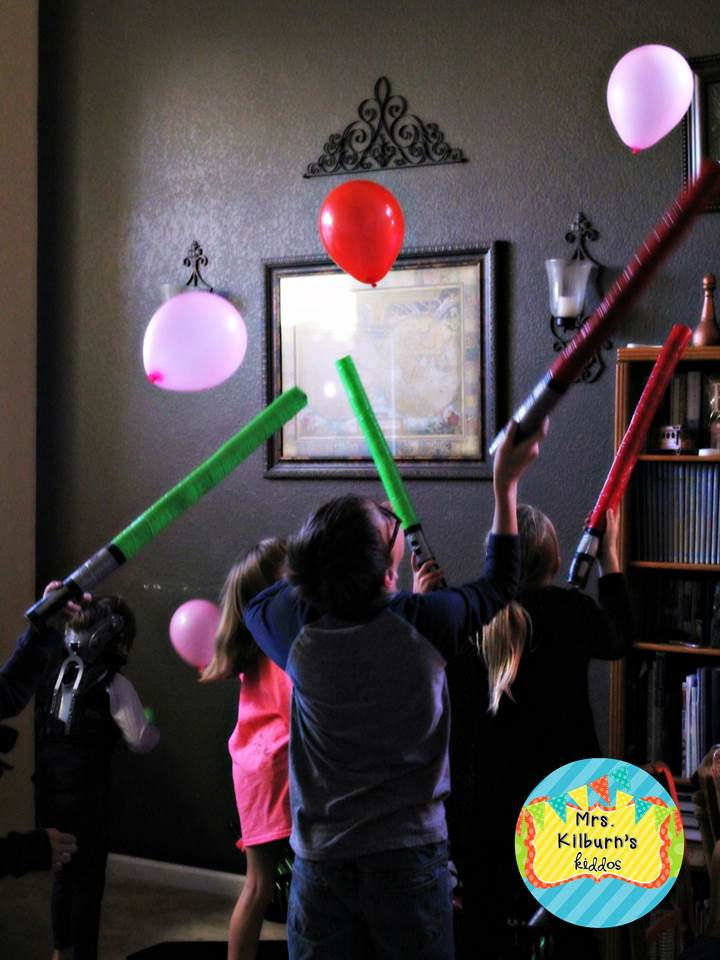 balloon light saber game