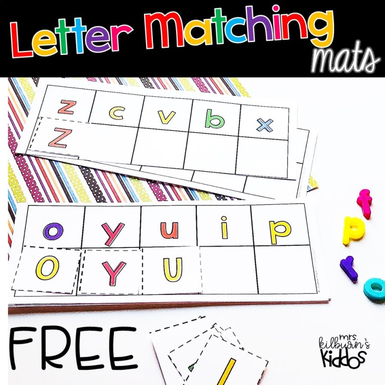letter matching mats FREE cover